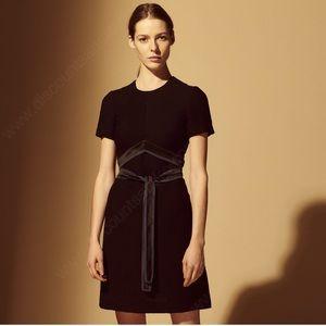 NWT SANDRO Isaure Silk-Sash A-Line Dress in Black